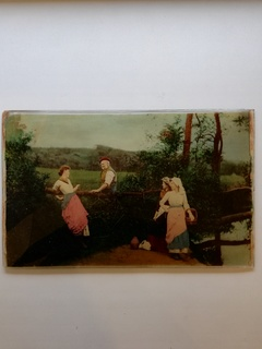 Немецкая картина на стекле.
