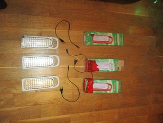 3 диодных фонаря