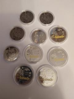 Лот із 10 монет НБУ 2019 року 5 шт. Малевич та 5 шт. 100 років капеллі Думка