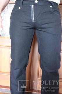 Джинсы-брюки новые черные OXALIS  W34 L34 талия 92см