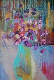 Живопись маслом, цветы, абстракция.