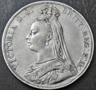 1 крона, 1890 год, Великобритания, серебро