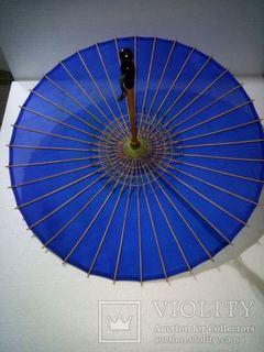 Зонтик старинный с бамбука, шелк.Япония.
