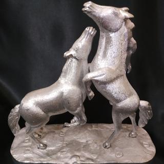Фигурка пара лошадей серебрение