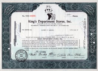 США. 1964 год. King's Department Stores, Inc.