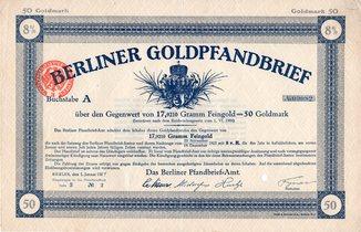 Рейх. 1924 год. 50 голдмарок.
