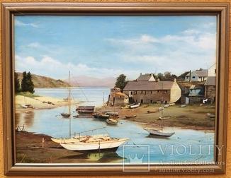 Морской пейзаж, худ. L.Tallant, 1974г