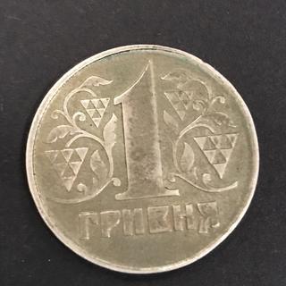 1 гривня срібло на заготовці двох марок