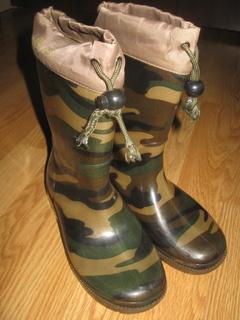 Гумаки резинові чобітки встілка 21см Резиновые сапоги