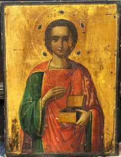 Икона Святого Пантелеймона целителя, Афон
