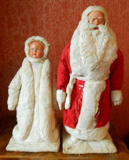 Дед Мороз, Снегурочка. Донецк 1969