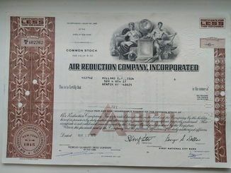 Акции США AIR REDUCTION COMPANY, INCORPORATED