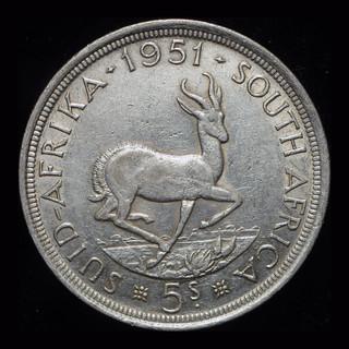 Британская Южная Африка крона 1951  серебро