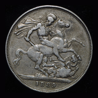 Великобритания крона 1889 серебро