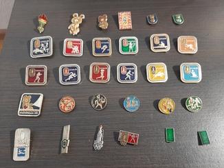 Значки посвященные олимпиаде 1980 года в СССР 30 шт