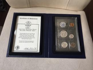 Коллекционный набор монет United States Mint Silver Proof Set 1961