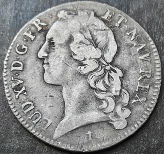 1 экю 1748 год , Франция , Людовик XV, Серебро