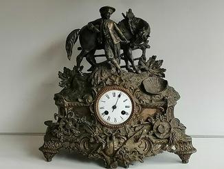 Бронзовые часы 19 век