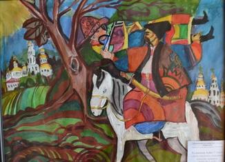 """""""Доба героїчних козацьких походів"""", 40х30 см., жовтень 2018 р., Аліса Толкачова, 11 років"""