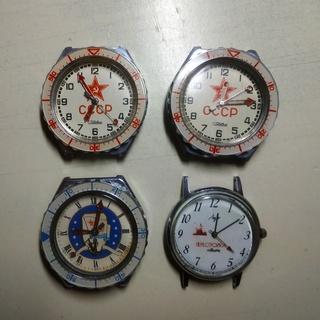 Лот 4 кварцевых часов СССР: Слава и Луч Перестройка