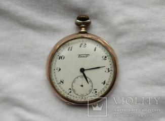 №6. Серебряные карманные часы ''Tissot''
