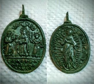 Иконка Коронация девы Марии небесной Царицей .