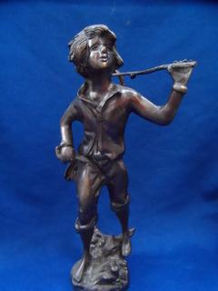 Скульптура Мальчик - угольщик Бронза Европа 2,6 кг