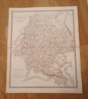 1844 Большая карта Рос.Империи. Украина. Крым.