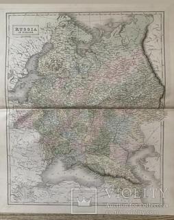1850. Российская Империя. Европа. Украина. 60*44 см