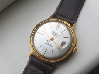 Часы Poljot 29 jewels automatic made in USSR.Полет позолота Au20