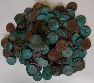 1730-1754 гг. Денга, 250 штук
