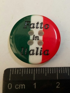 Пуговица пластиковая, флаг Италии