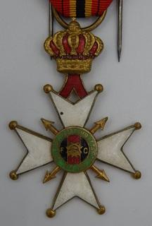 Бельгия. Крест Национальной федерации комбатантов Бельгии, 1914–1918.