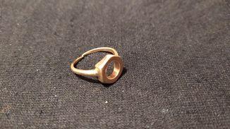 Кольцо позолоченная
