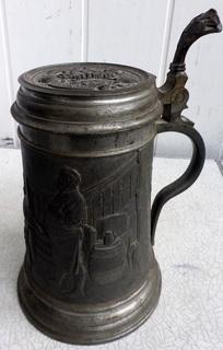 Старинная пивная кружка до 1935г клеймо Gesetzlich Geschützt