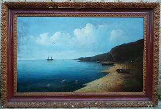 """Картина """"Морской пейзаж """" 19 век"""