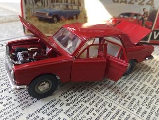 Коллекционная модель ГАЗ-24. Масштаб 1:43. Модель А14
