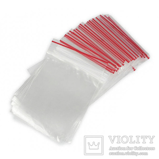 Пакеты 6x8 см. струна быстрозакрывающиеся с застёжкой ZIP-lоск (гриппер) 100 штук