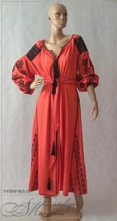 Дизайнерское платье вишиванка