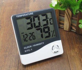 Домашняя метеостанция HTC-1 с цифровыми часами,термометром,гигрометром