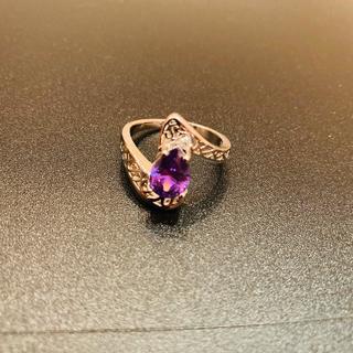 (6) Срібний перстень з аметистом