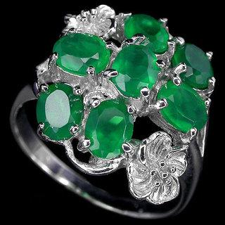 (7) Срібний перстень з авантюрином