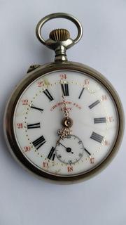 Старинные карманные часы Chemin de fer JAPY