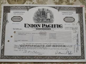 США акции, UNION PACIFIC 1881р