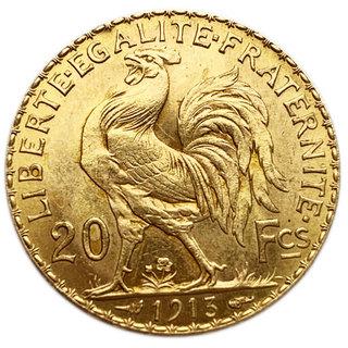 20 франков 1913 года. Франция. aUNC