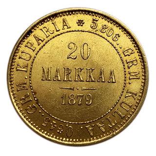 20 марок 1879 года. UNC.