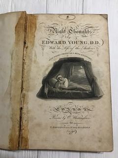 1798 Ночные мысли Едвард Янг, с рисунками, на англ языке