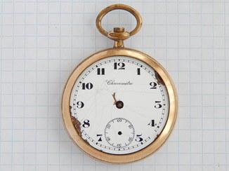 """Часы """"Chronometre U.S.A."""" в позолоте AU (нерабочие), на ремонт."""