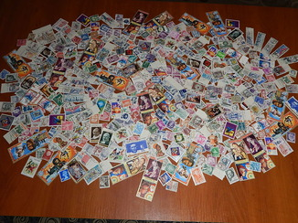 Гора почтовых марок разных стран мира 430 шт.