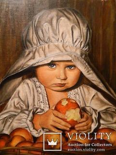 ''Детство'' масло, холст на картоне 40*40см, год 2011, автор Янишевская Ю.В.